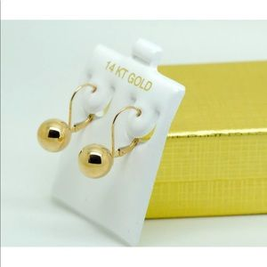 Jewelry - 14K YELLOW Solid GOLD DROP EARRINGS